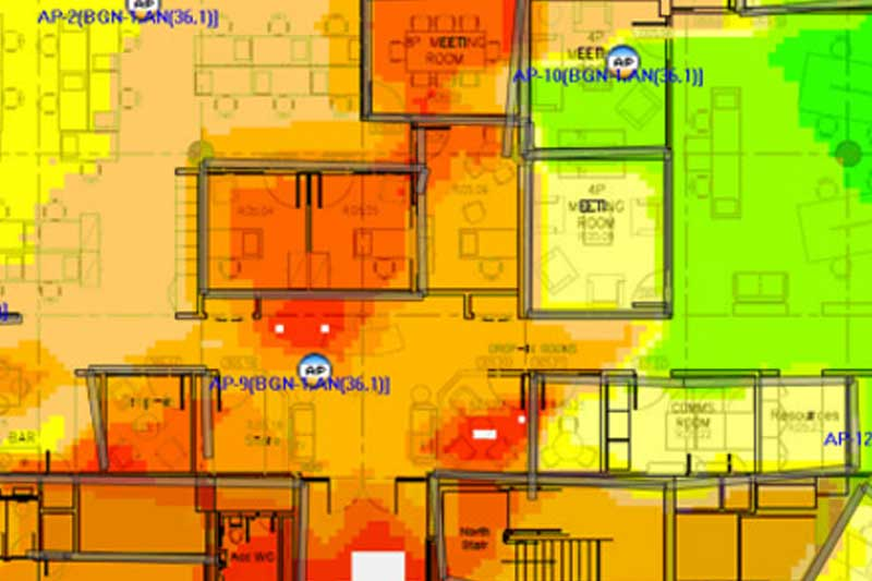 WiFi coverage heatmap